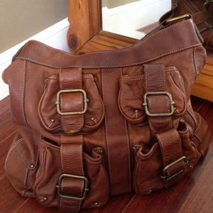 * Banana Republic * Leather Ashbury Buckle Bag